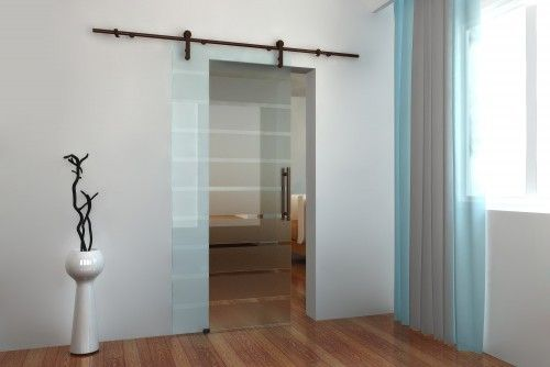 Frosted Glass Sliding Door To Bedroom Office Study En