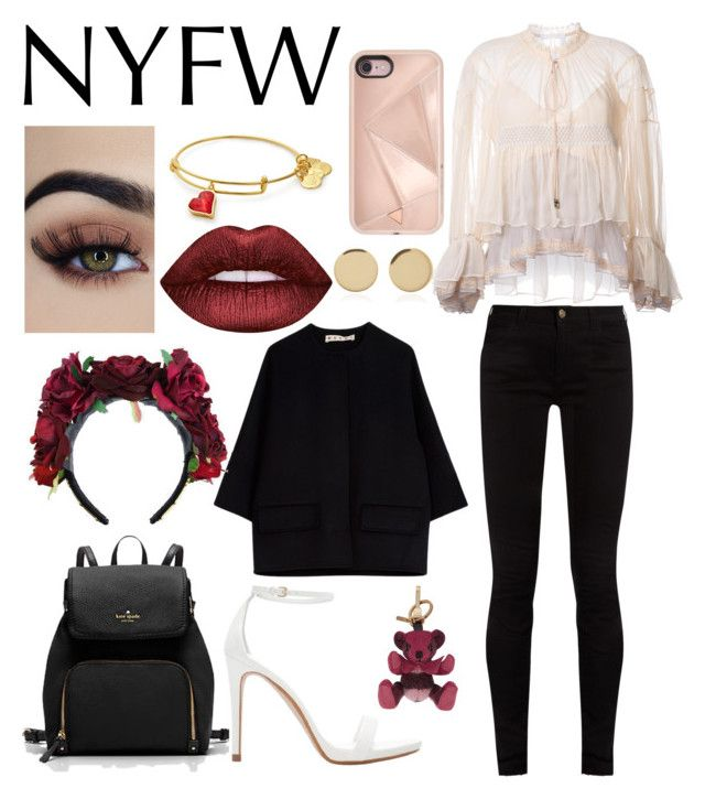 """NYFW"" by httpfuckyoubitches ❤ liked on Polyvore featuring Chloé, Gucci, Zara, Rebecca Minkoff, Marni, Magdalena Frackowiak, Lime Crime and Burberry"
