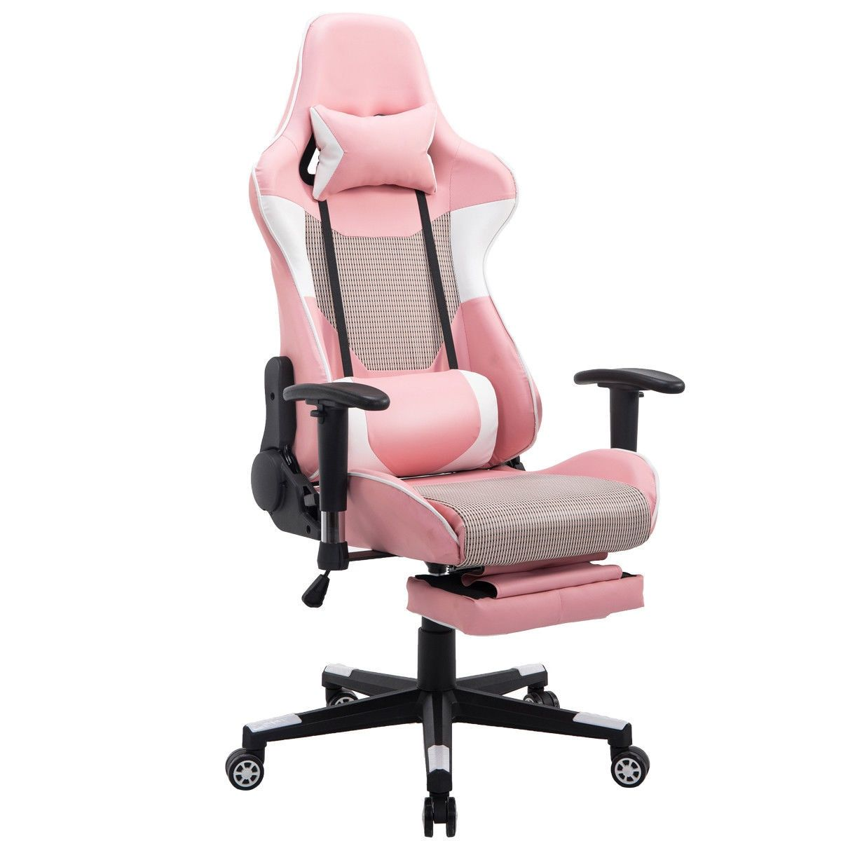 Giantex Modern Reclining Gaming Chair High Back Racing Office Chair With Lumbar Support Footrest Modern Armchairs Office Chair Gaming Chair Best Office Chair