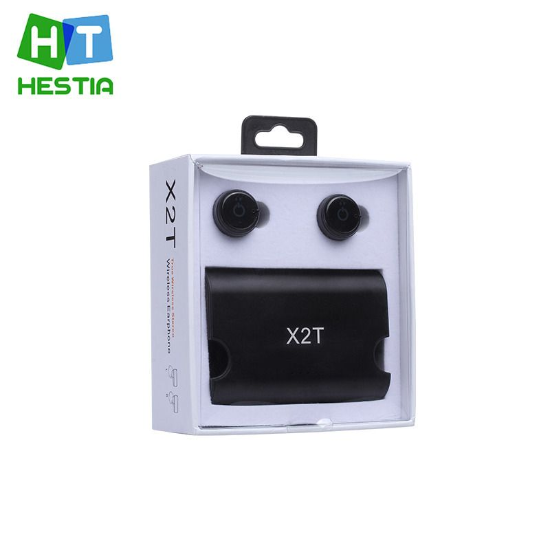 46712d794af HESTIA 2017 New Wireless Earphones Twins X2T Bluetooth CSR 4.0 Earphone  Stereo With Magnetic Charger Box