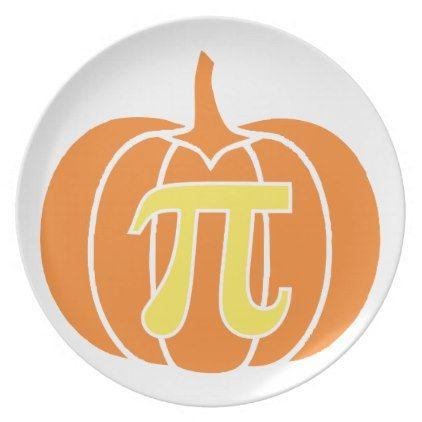 Pumpkin Pie Melamine Plate   Thanksgiving Day Family Holiday Decor Design  Idea