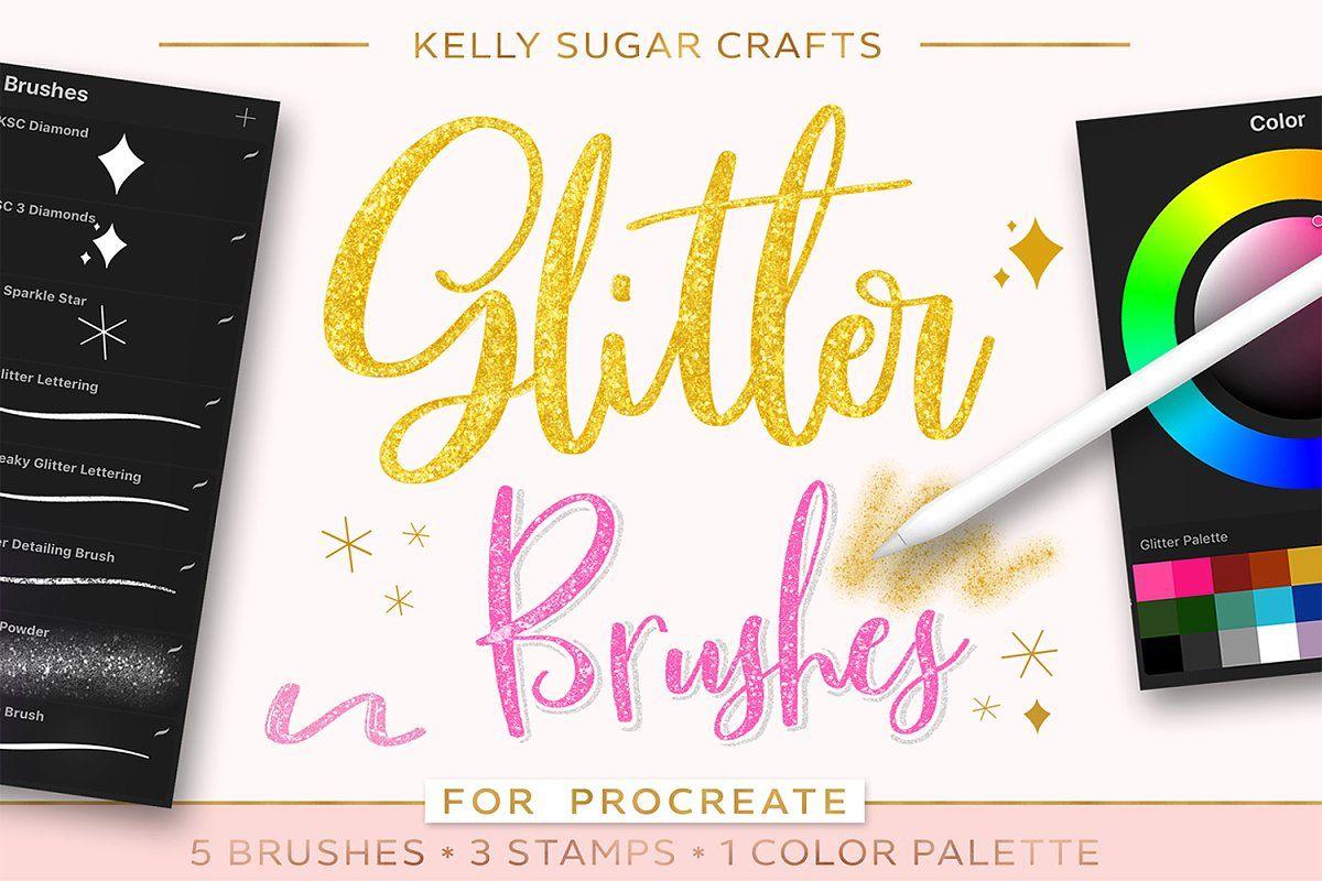 Glitter Procreate Lettering Pack | Procreate lettering ...