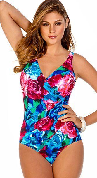 Veröffentlichungsdatum Super Qualität sehr bequem Miraclesuit Damen Badeanzug Gr. 44, Photo Rose - Badeanzug ...