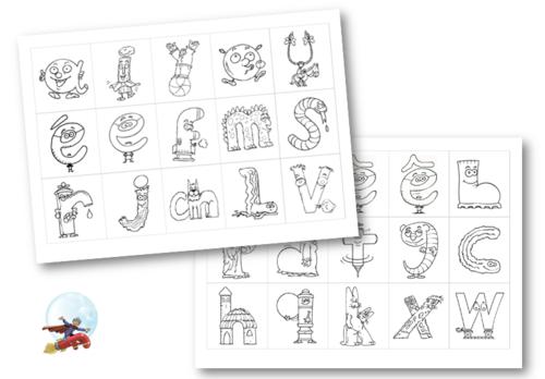 Lettrine roman de renart alpha education alphabet et lettering - Alphabet a colorier et imprimer ...