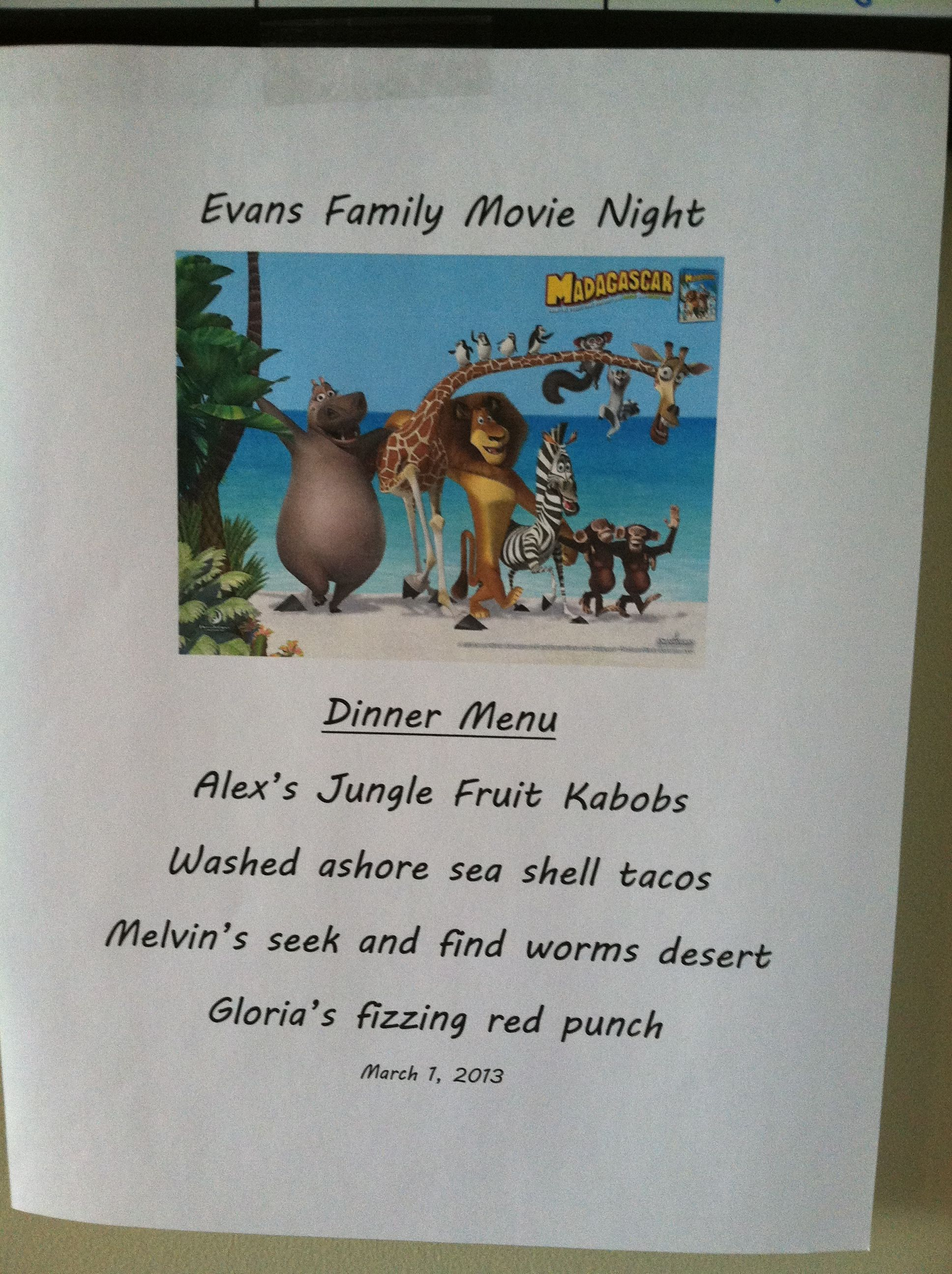 Madagascar Movie Night