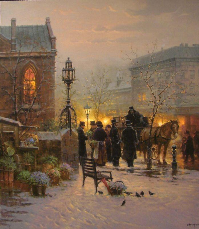 Gerald Harvey Jones 1933 Western Painter City Painting Street Painting Great Paintings