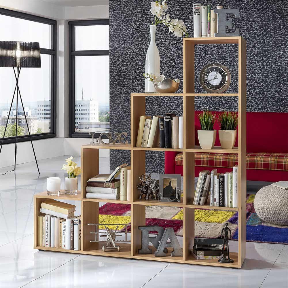 Bücherregal im Treppen Design Buche Dekor Jetzt bestellen unter ...
