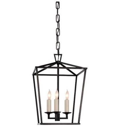 Visual comfort darlana linear pendant with polished nickel finish lighting connection