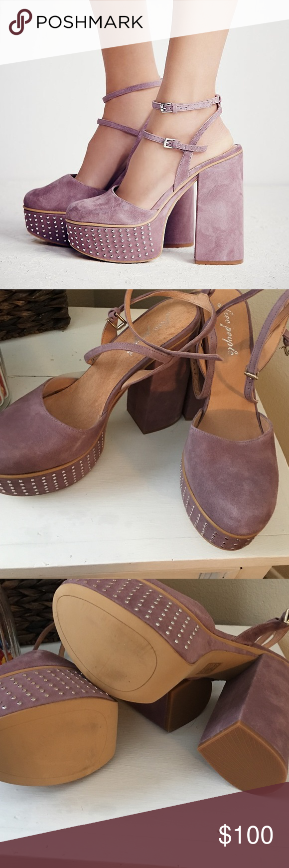 9a2b06d789 NWT free people star crossed lover platforms New in box free people star  crossed lover platforms in lavender Free People Shoes Heels