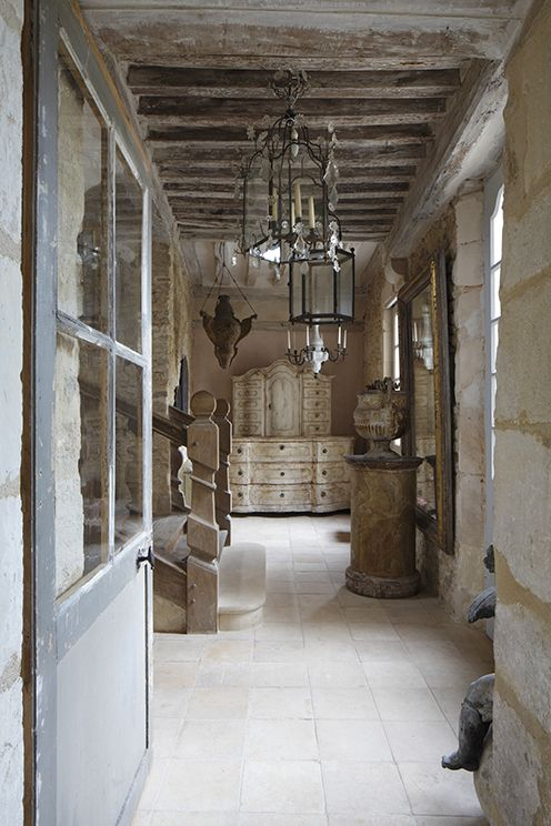 French rustic cottage entry normandy home in s es france for French country house interior
