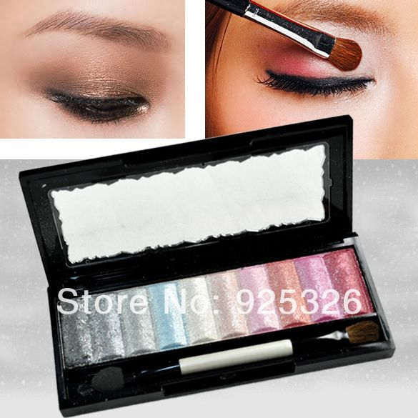 New 10 Colors Pro Fashion Baked Glitter Eyeshadow Palette Makeup Cosmetics Eye Shadow Pigment  4381 $5.59