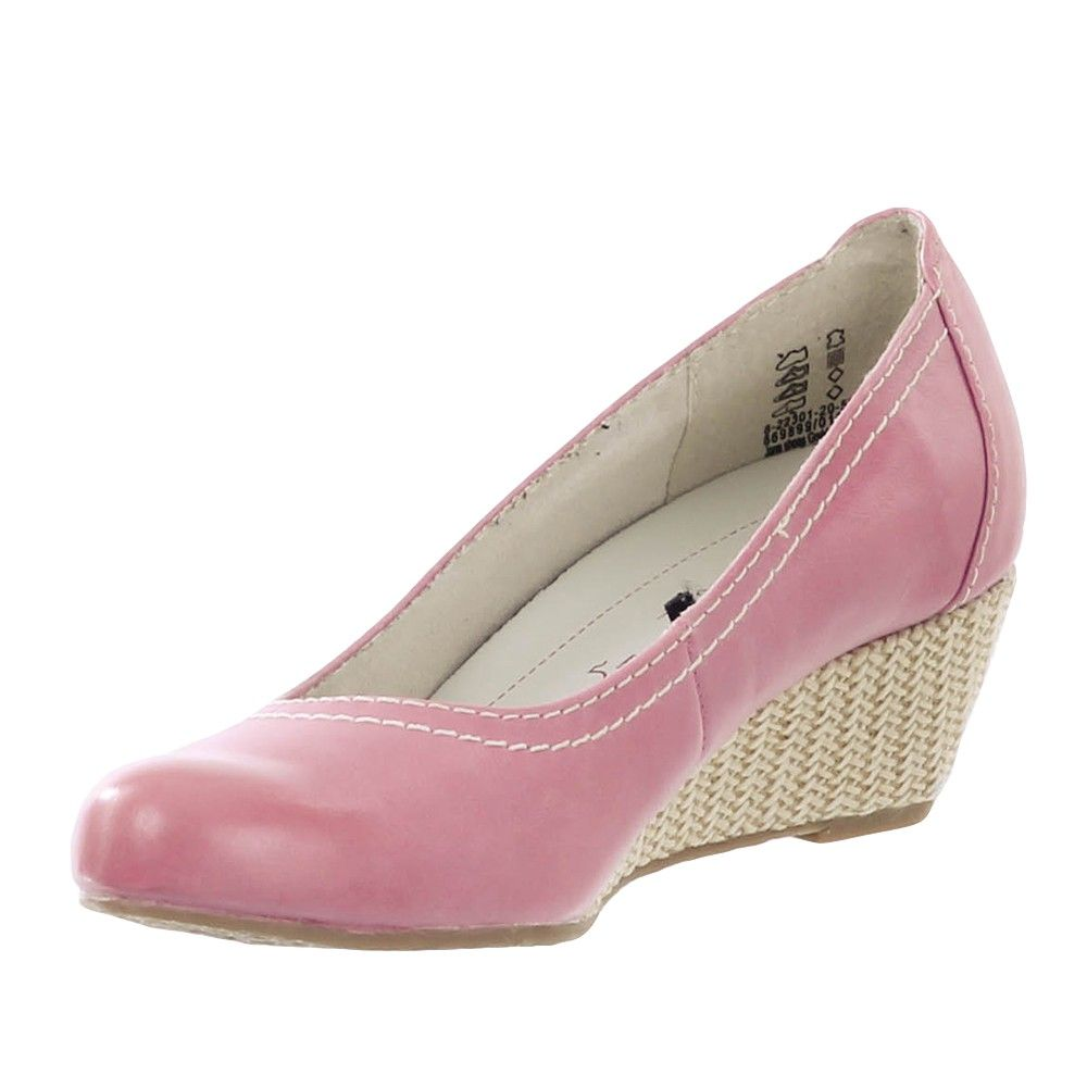 182dfb32cf8c0f JANA Damen Keil-Pumps Fuchsia 5 cm Absatz Schuhe Damen Pumps ...