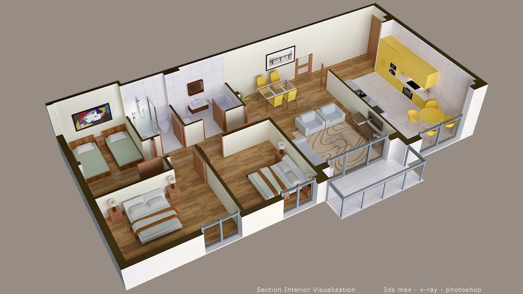plan appartement sketchup