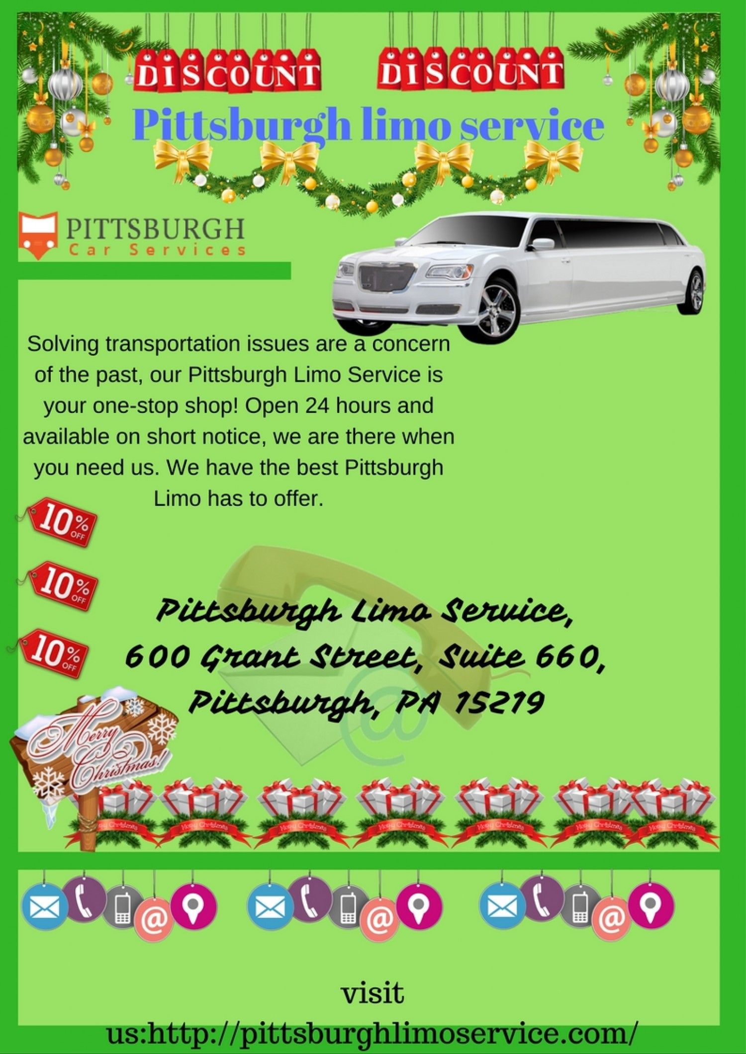 Christmas light tour Party Bus Pittsburgh Infographic