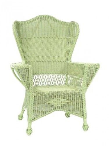 Cottage Wicker Furniture Sonoma Wingback Chair Khaki Green