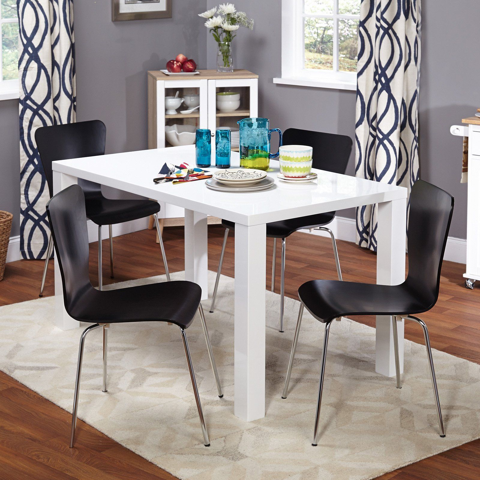Target Marketing Systems Felix 5 Piece Dining Table Set White