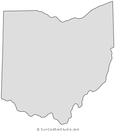 Ohio Map Outline Printable State Shape Stencil Pattern Scroll Saw Patterns Free Scroll Saw Patterns Scroll Saw