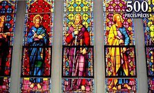 Religious Stained Glass Windows   ... -PIECE-JIGSAW-PUZZLE-BEAUTIFUL-STAINED-GLASS-WINDOWS-RELIGIOUS-SEALED