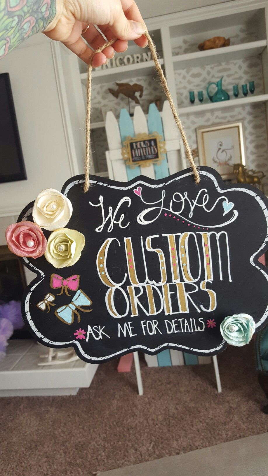 Diy Craft Show Displays Signage Hand Painted Chalk Board