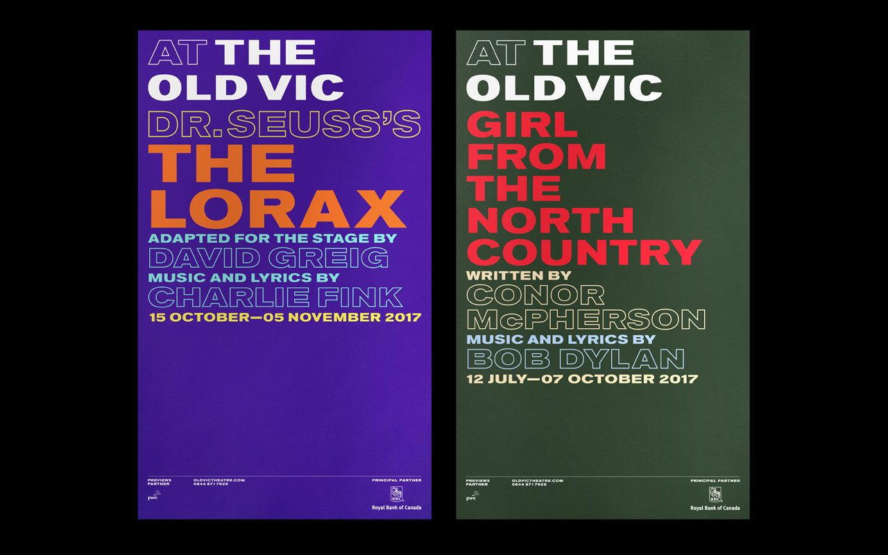 The Old Vic Identity  ○ Studio: Pentagram  ○ Location: United Kingdom  ○ Client: The Old Vic  ↪