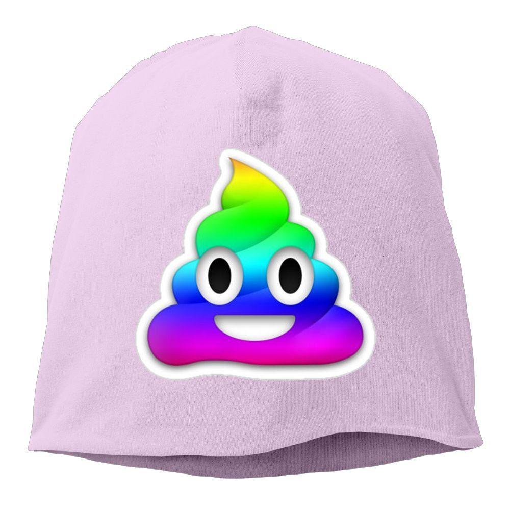 Unisex Beanie Knit Ski Cap Women Hip-Hop Winter Warm Wool Emoji Applique Men Hat