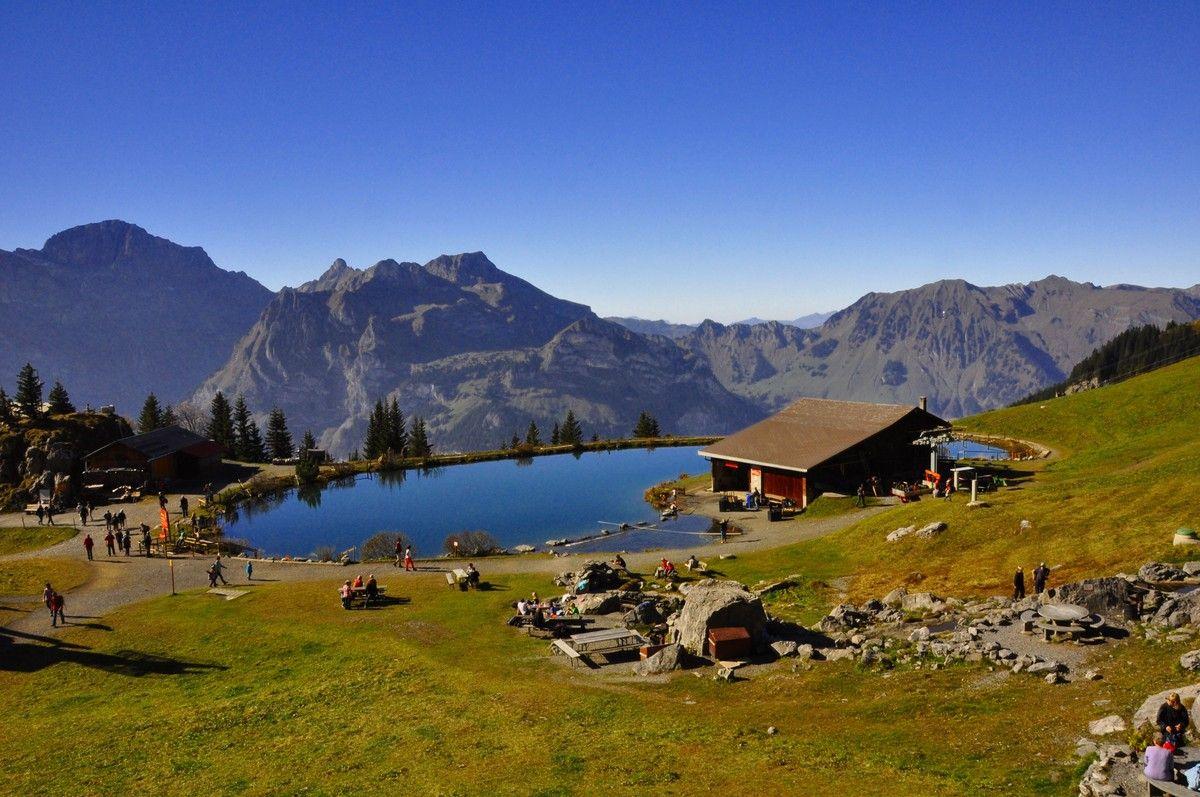 Natur-Berge-Bergseen Schweiz Engelberg Brunni Härzlisee ...