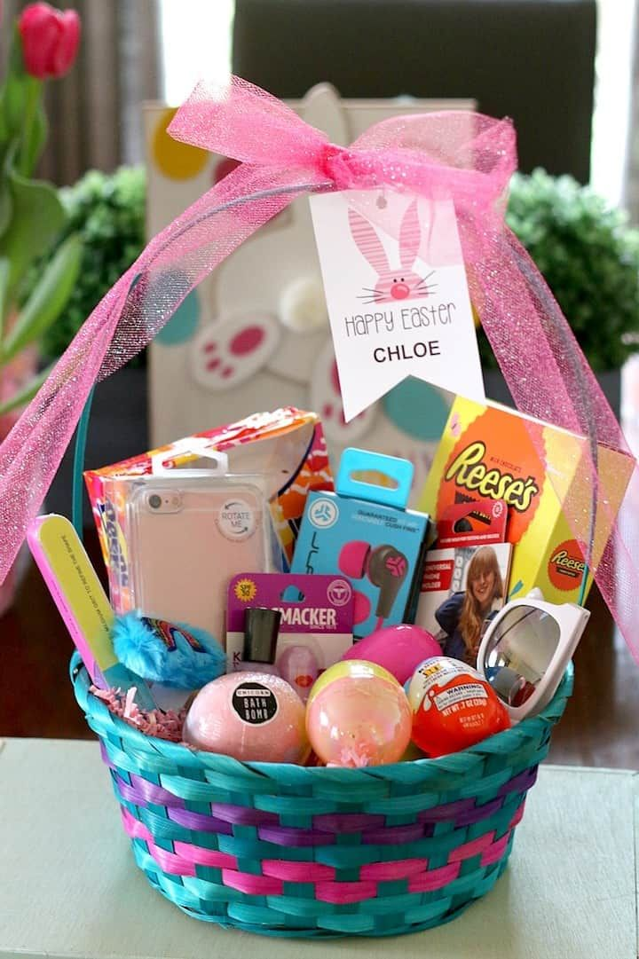 Easy Easter Baskets On A Budget Great Diy Easter Basket Ideas For Baby Little Kids And Tweens Sponsored Kids Easter Basket Easter Kids Tween Easter Baskets