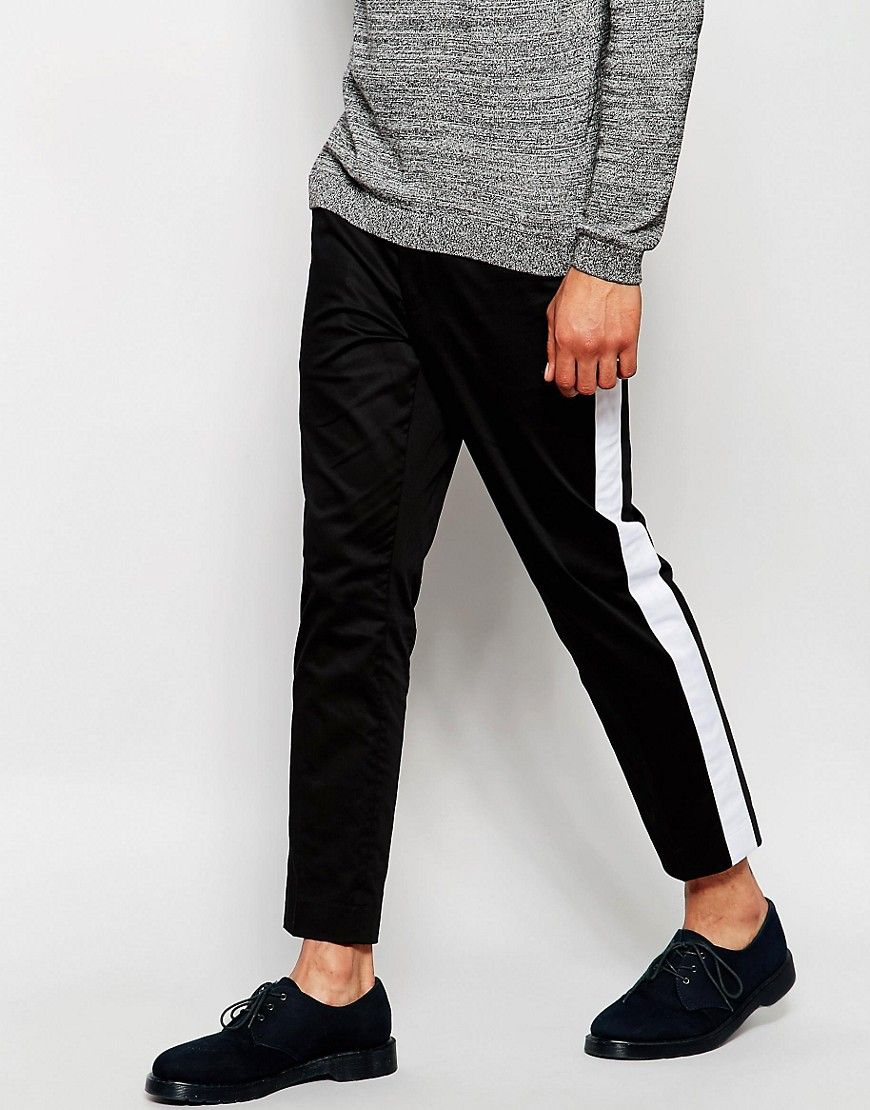 Shop ASOS Skinny Cropped Smart Trousers With Panel Details at ASOS.