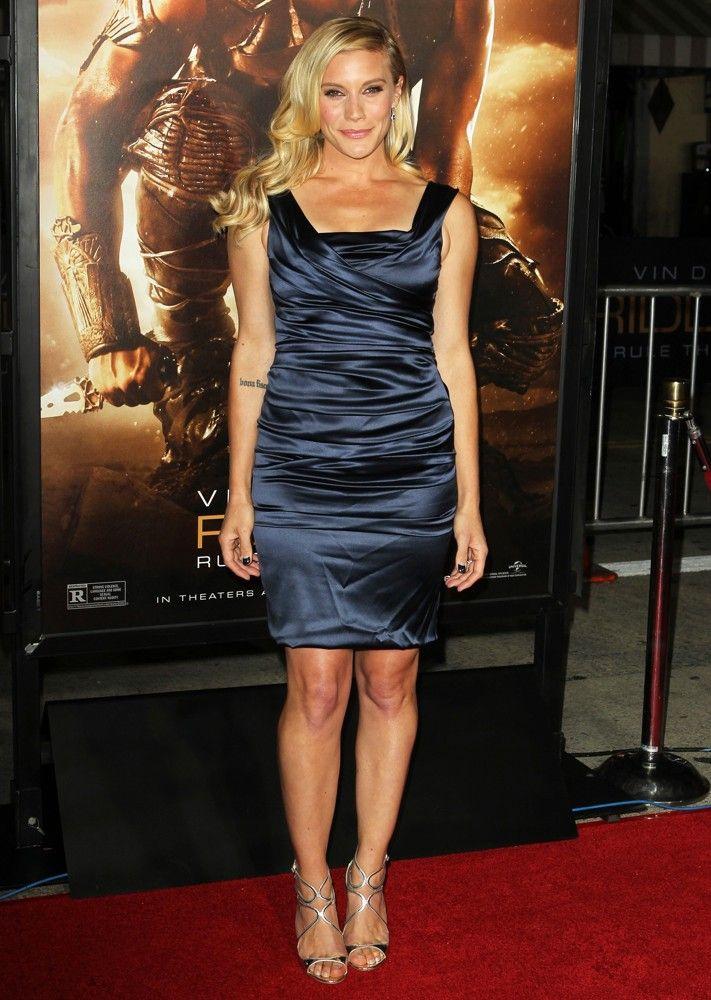 Katee Sackhoff wears  (Midi Dress )