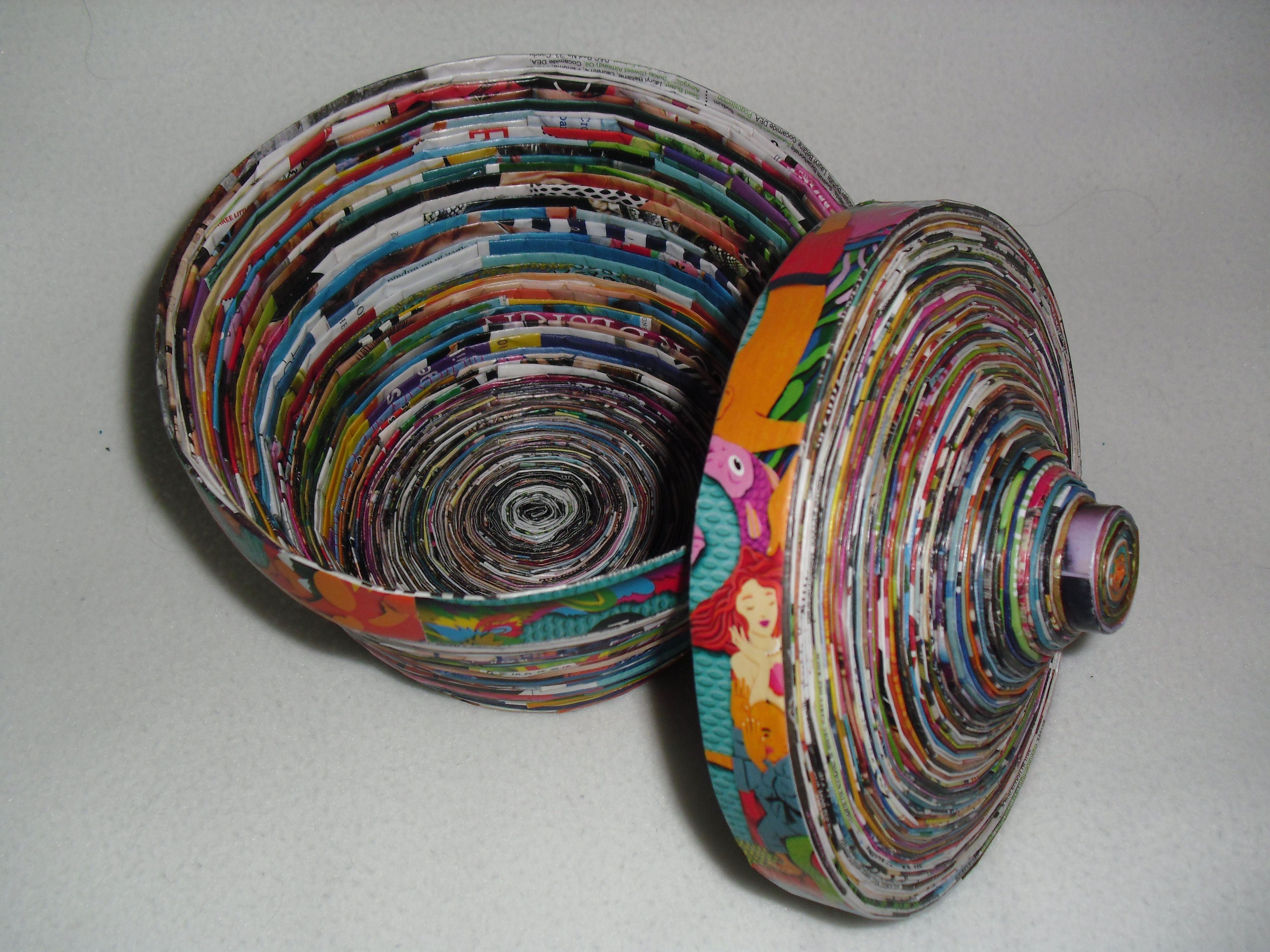 Paper Coil Bowl I39ve Made A Few Of These The Folding And