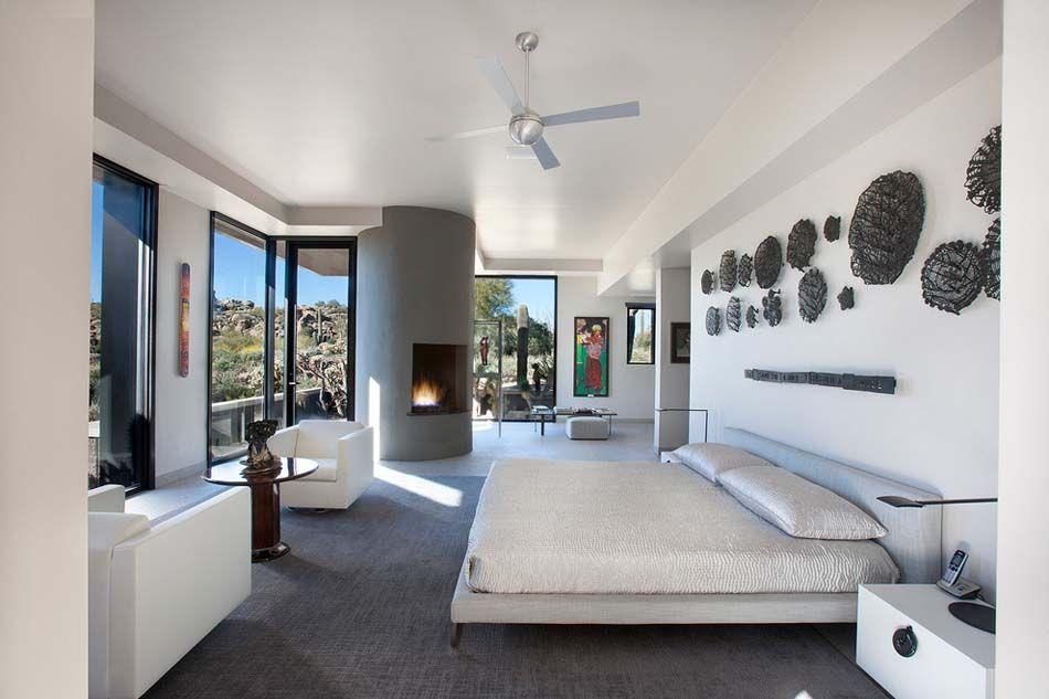 15 exemples d\'une belle chambre avec cheminée aux ambiances variées ...