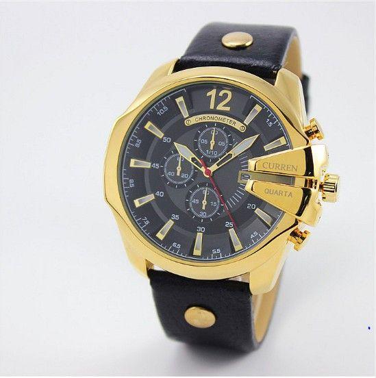 3086bb86568 Pnsk vododoln hodinky CURREN ernozlat barvy t