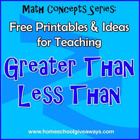 Free printables and ideas for teaching greater than less than ...