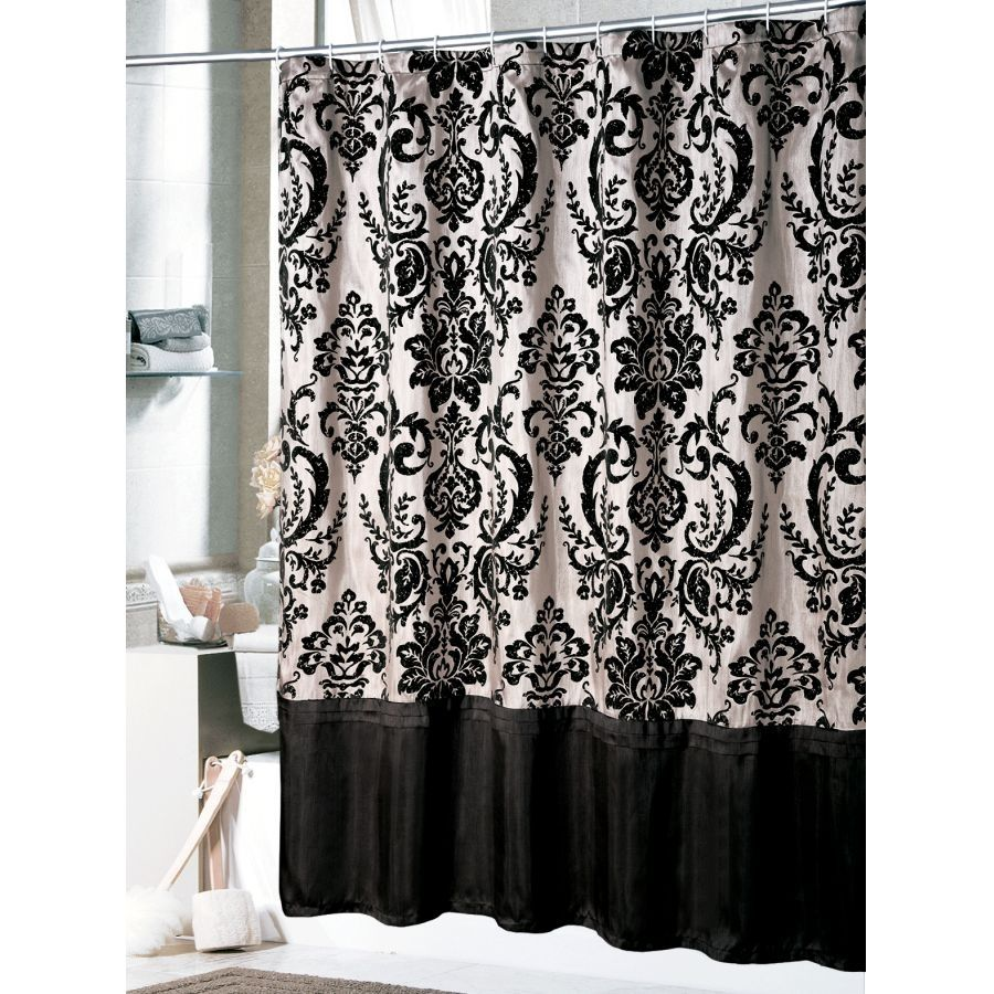 Waverly Toile Shower Curtain Black And White | http://legalize-crew ...
