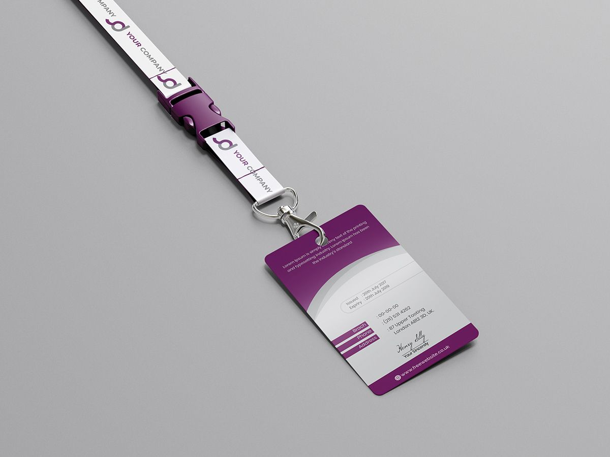 Employee card id card on behance employees card id