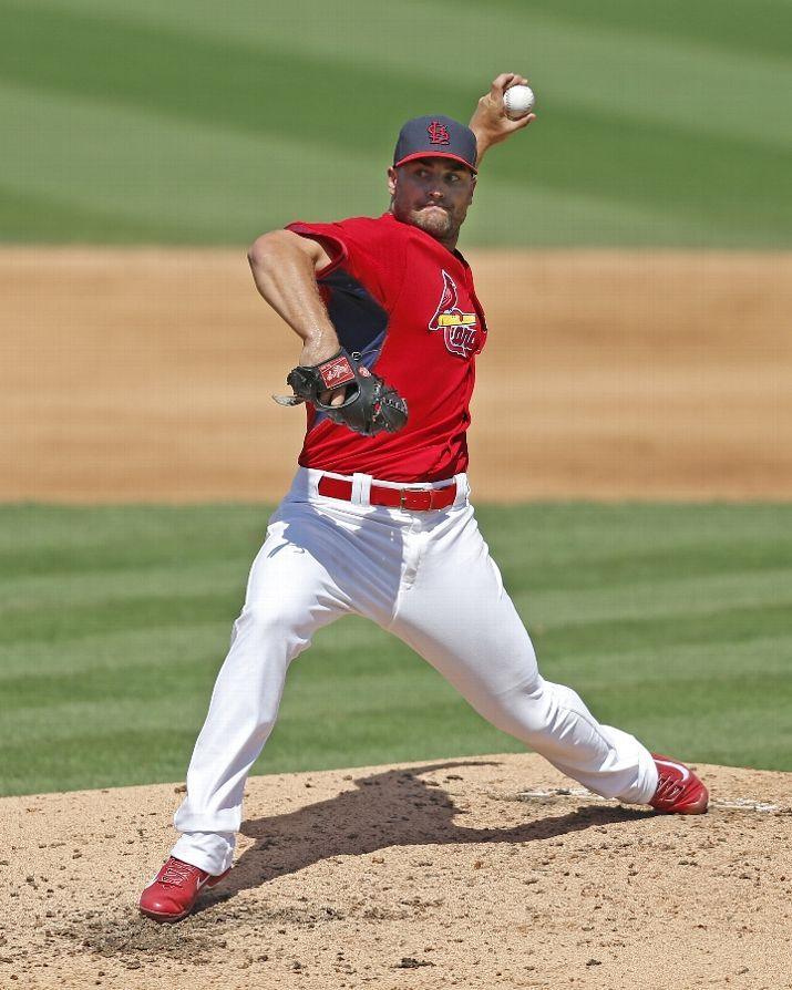 Tyler Lyons throws the ball against the Twins in the fifth inning of a spring training game. 3-14-15