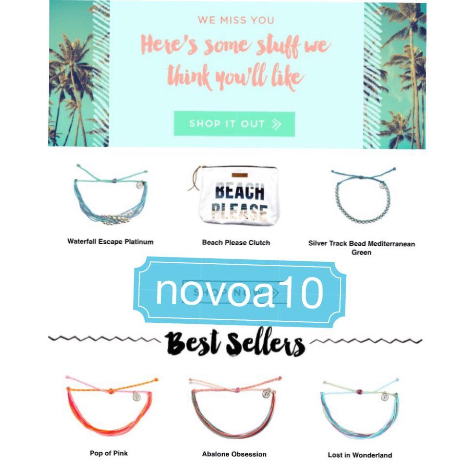 Pura vida bracelets 10% off purchase with coupon code novoa10   Pura ...