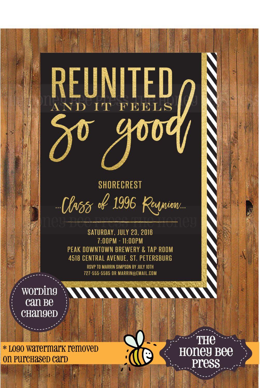 high school reunion invitation