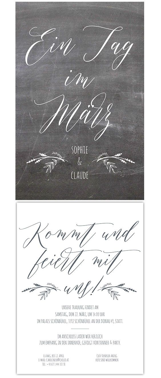 "Karte Trauung  ""all things chalkboard"""
