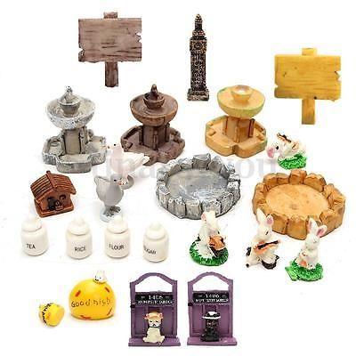 DIY Fairy Garden Miniature House Figurine Craft Micro Landscape Ornaments Decor.