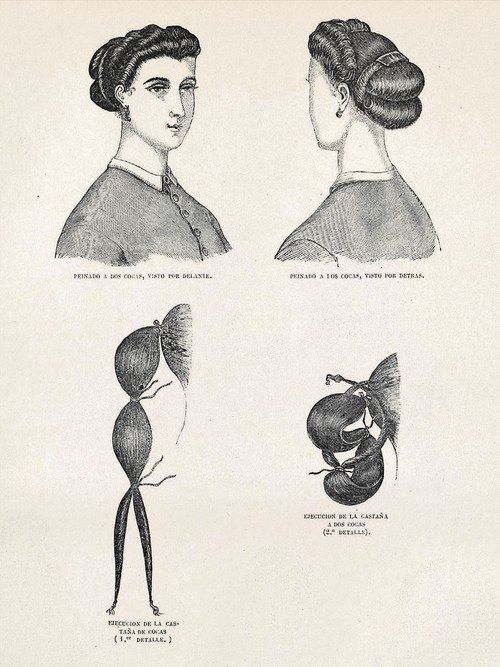 Easy Victorian Bun Pictorial Victorian Hairstyles Historical Hairstyles Medium Long Hair