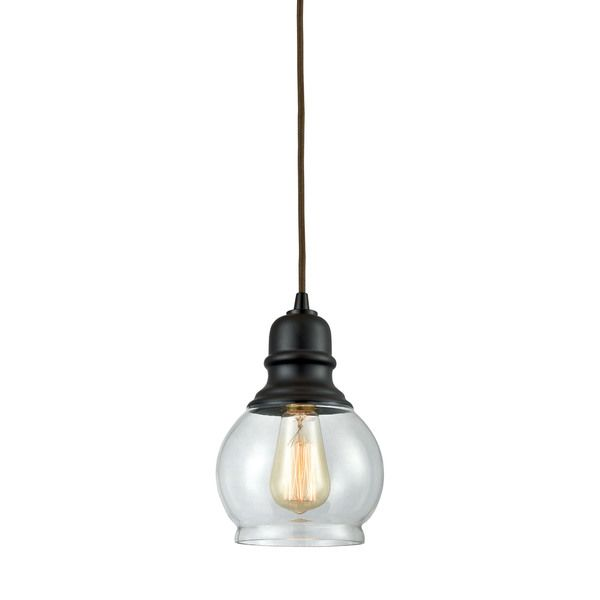 elk menlow park 1light led pendant in oil rubbed bronze by elk lighting