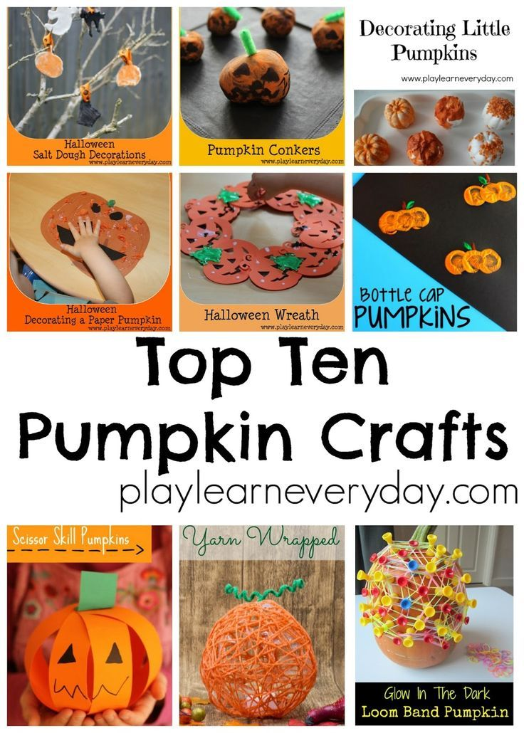 Top Ten Pumpkin Crafts Youngest child, Child and Craft - preschool halloween decorations