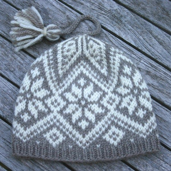 Two new hat designs in Hegre | Fair isles, Knit hats and Fair isle ...