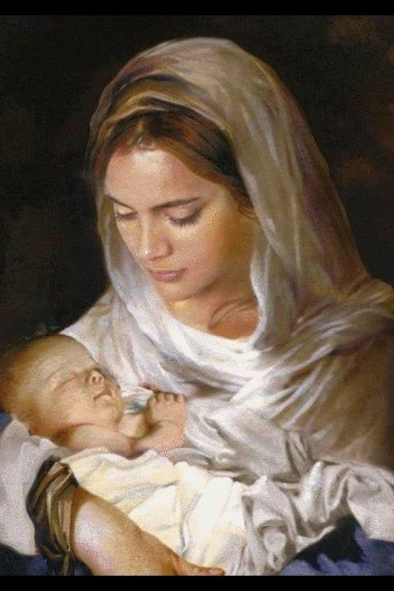"""""""Bearing in her womb the Savior, Mary can also be said to have borne all those whose life the Savior's life enshrined. All of us, then, as many as are knit to Christ  . . . have come forth from Mary's womb: one body, as it were, knit together with its Head.""""  Pope St. Pius X"""