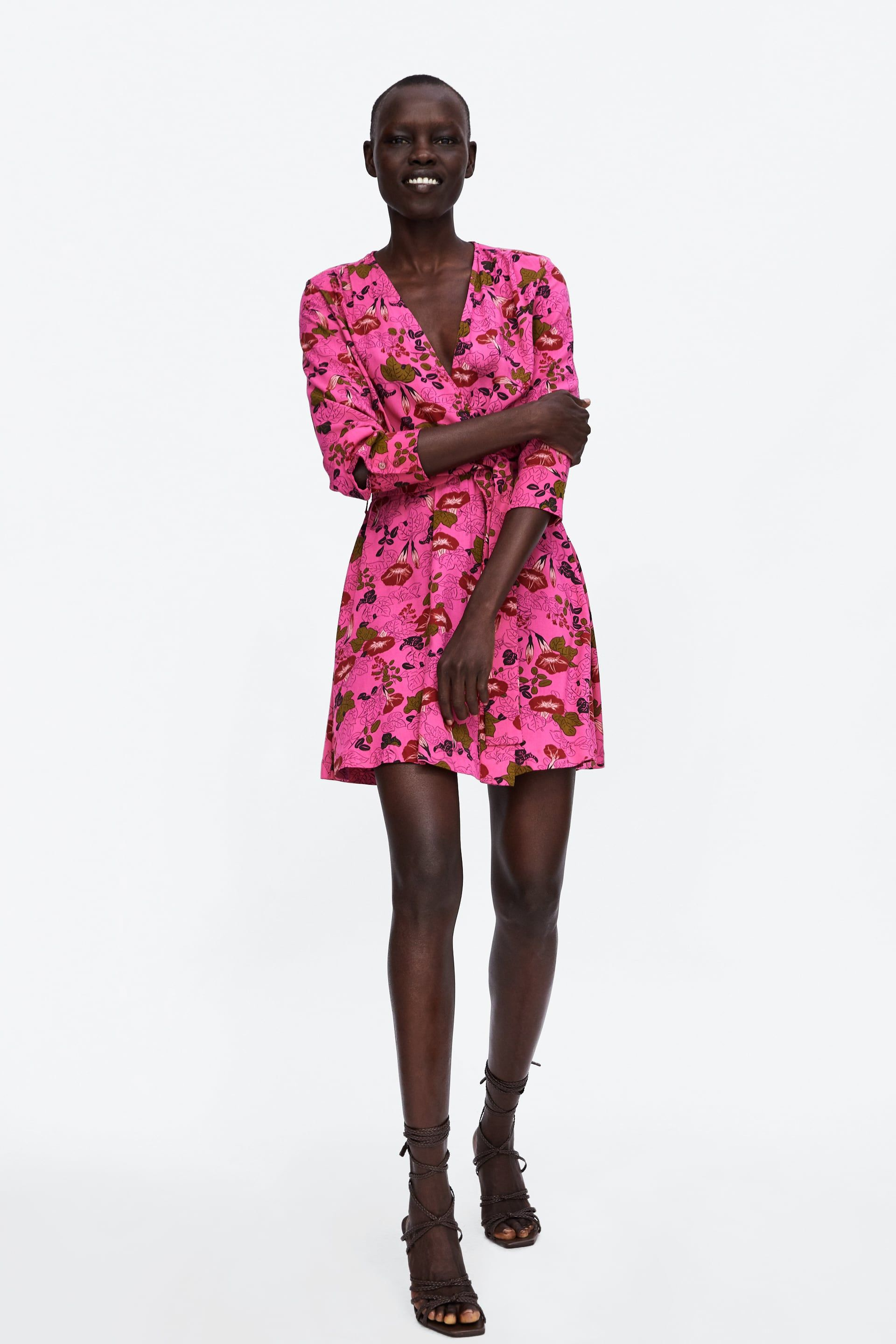 Image 1 Of Floral Print Wrap Dress From Zara The Dressmaker