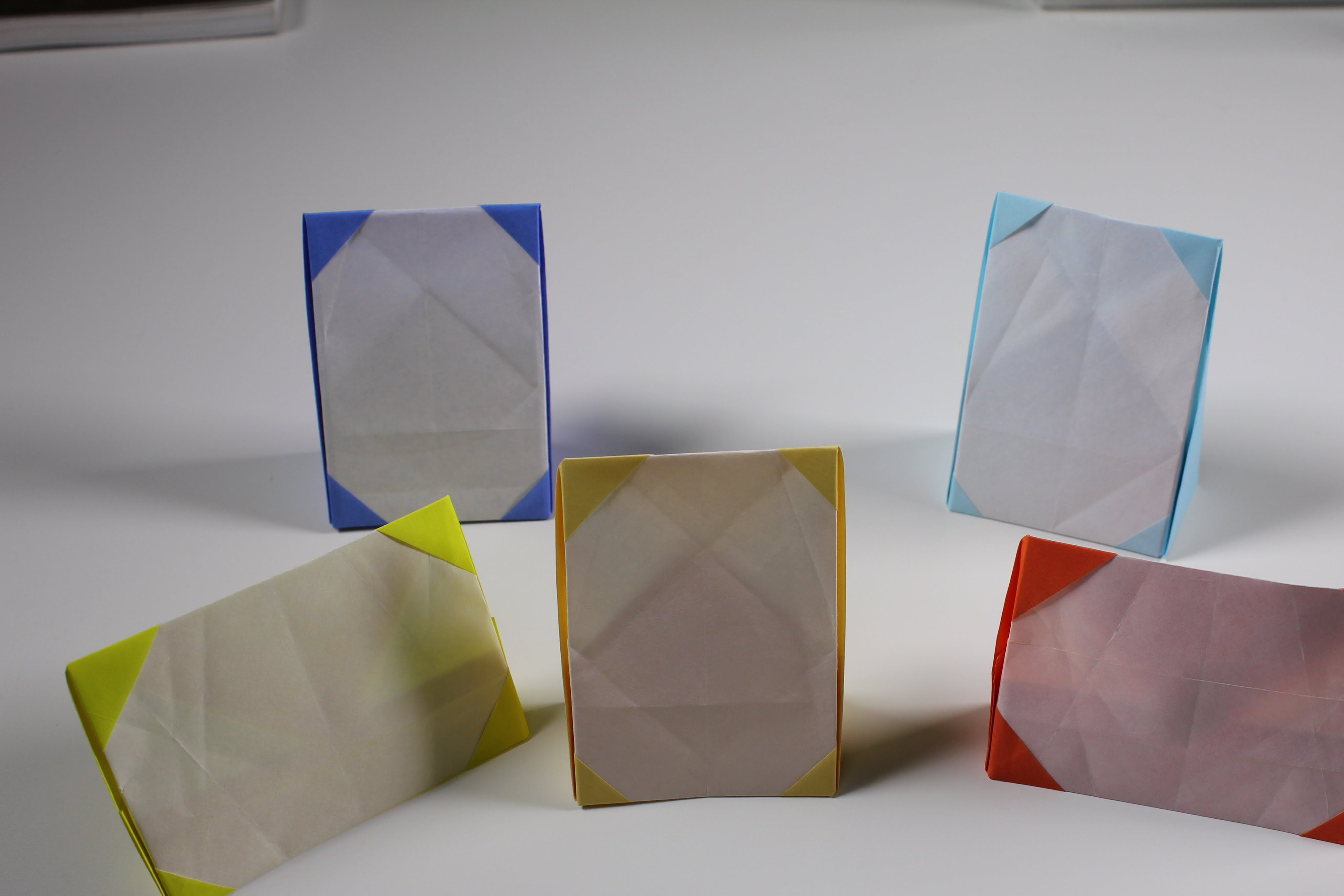 Origami Doll Photoframe Photoframe Or Pictureframe Tutorial Easy And