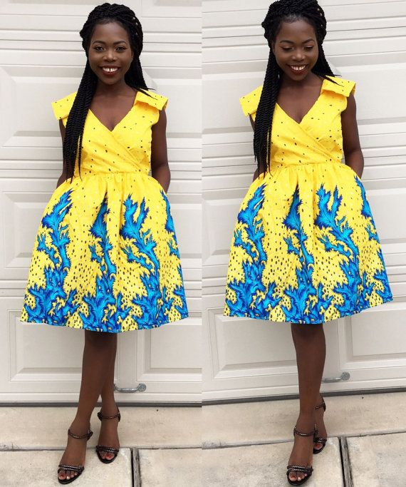 Check out this item in my Etsy shop https://www.etsy.com/listing/477163592/african-ankara-women-knee-length-yellow