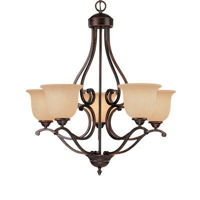 Photo of Fleur De Lis Living Ranlo 5 – Light Shaded Classic / Traditi…