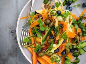 Gemüse-Dinkel-Wok mit Zucchini #frozenbananarecipes